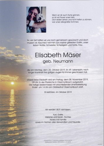 Elisabeth Mäser  geb. Neumann