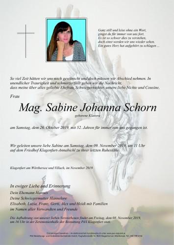 Mag. Sabine Johanna Schorn