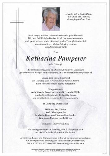 Katharina Pamperer geb. Peinhopf