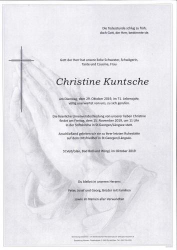 Christine Kuntsche