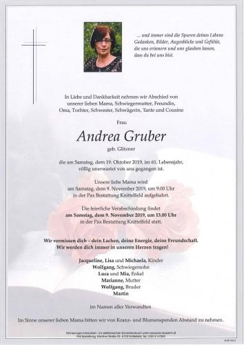 Andrea Gruber geb. Glitzner