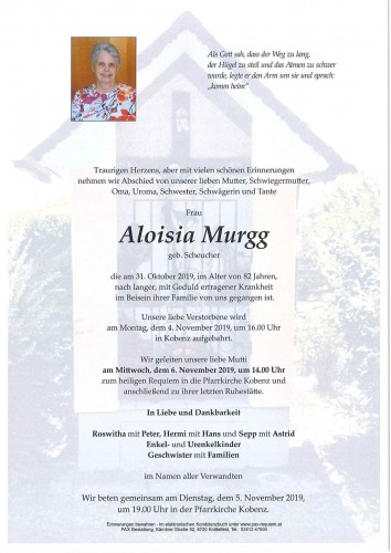 Aloisia Murgg geb. Scheucher