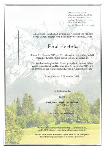 Fertala Paul