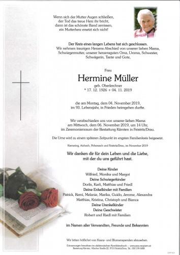 Hermine Müller, geb. Oberlerchner