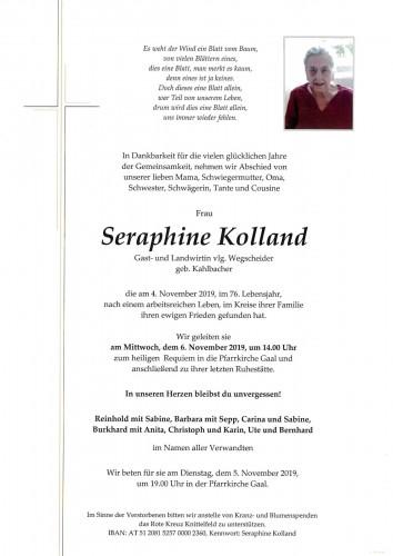 Seraphine Kolland, vlg. Wegscheider