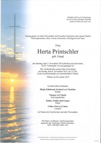 Herta Printschler geb. Gangl