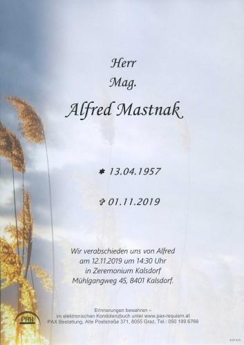 Mag. Alfred Mastnak