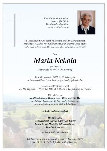 Maria Nekola