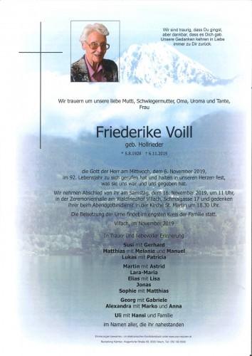 Friederike Voill geb. Hollrieder