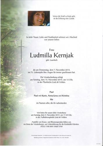 Ludmilla Kernjak geb. Lauritsch