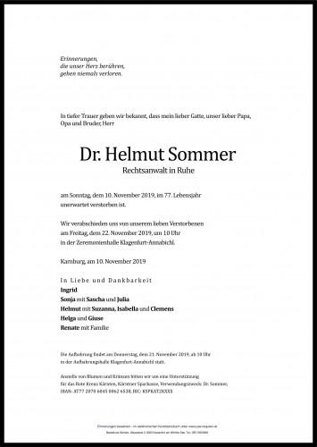 Dr. Helmut Sommer