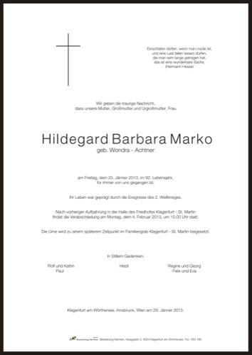 MARKO Hildegard Barbara