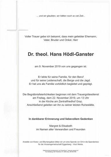 Dr.theol. Hans Hödl-Ganster
