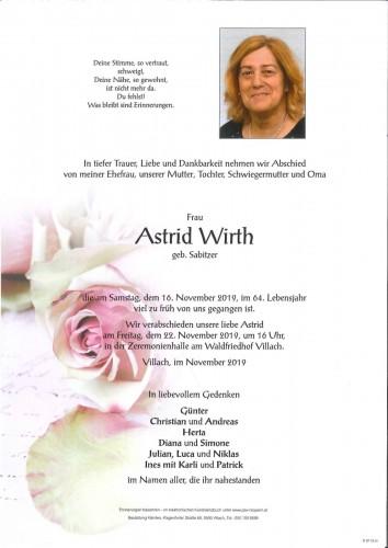 Astrid Wirth geb. Sabitzer