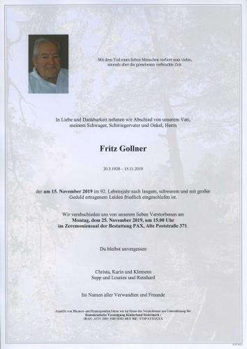 Fritz Gollner