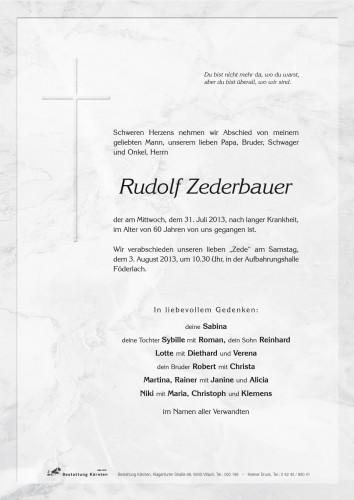 Rudolf Zederbauer