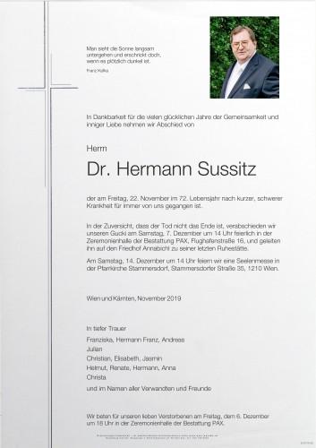 Dr. Hermann Sussitz
