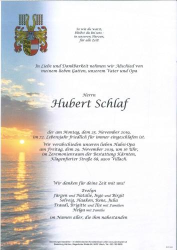 Hubert Schlaf