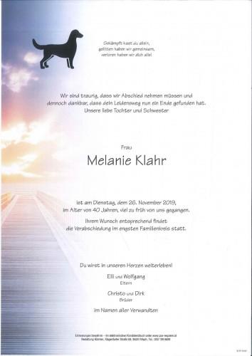 Melanie Klahr
