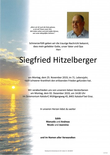 Siegfried Hitzelberger