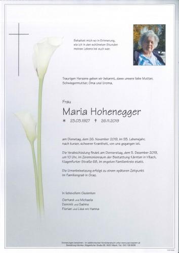 Maria Hohenegger