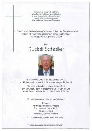 Rudolf Schaller