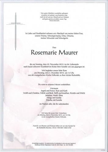 Rosemarie Maurer