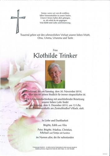 Klothilde Trinker