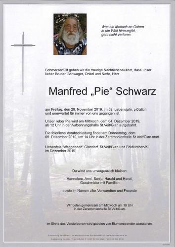 """Manfred """"Pie"""" Schwarz"""