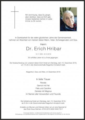 Dr. Josef Erich Hribar
