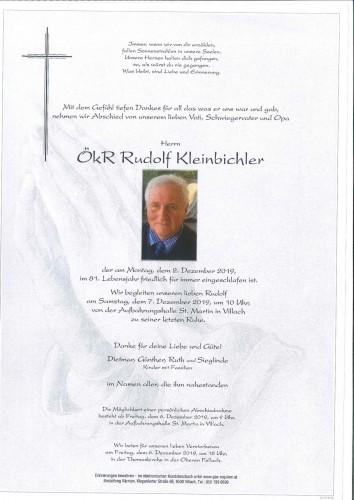 ÖkR Rudolf Kleinbichler