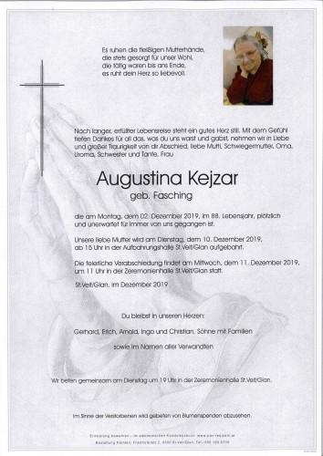 Augustina Kejzar  geb.Fasching