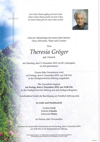 Theresia Gröger geb. Deutsch