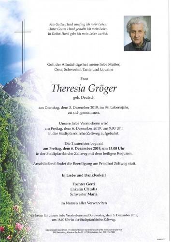 Theresia Gröger geb. Deutsch