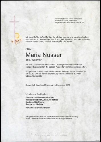 Maria Nusser