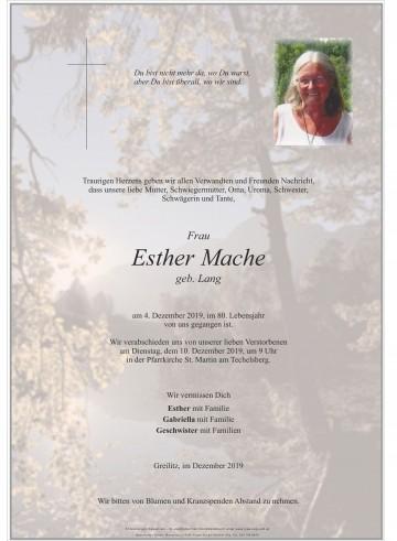 Esther Mache