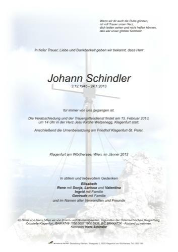 SCHINDLER Johann