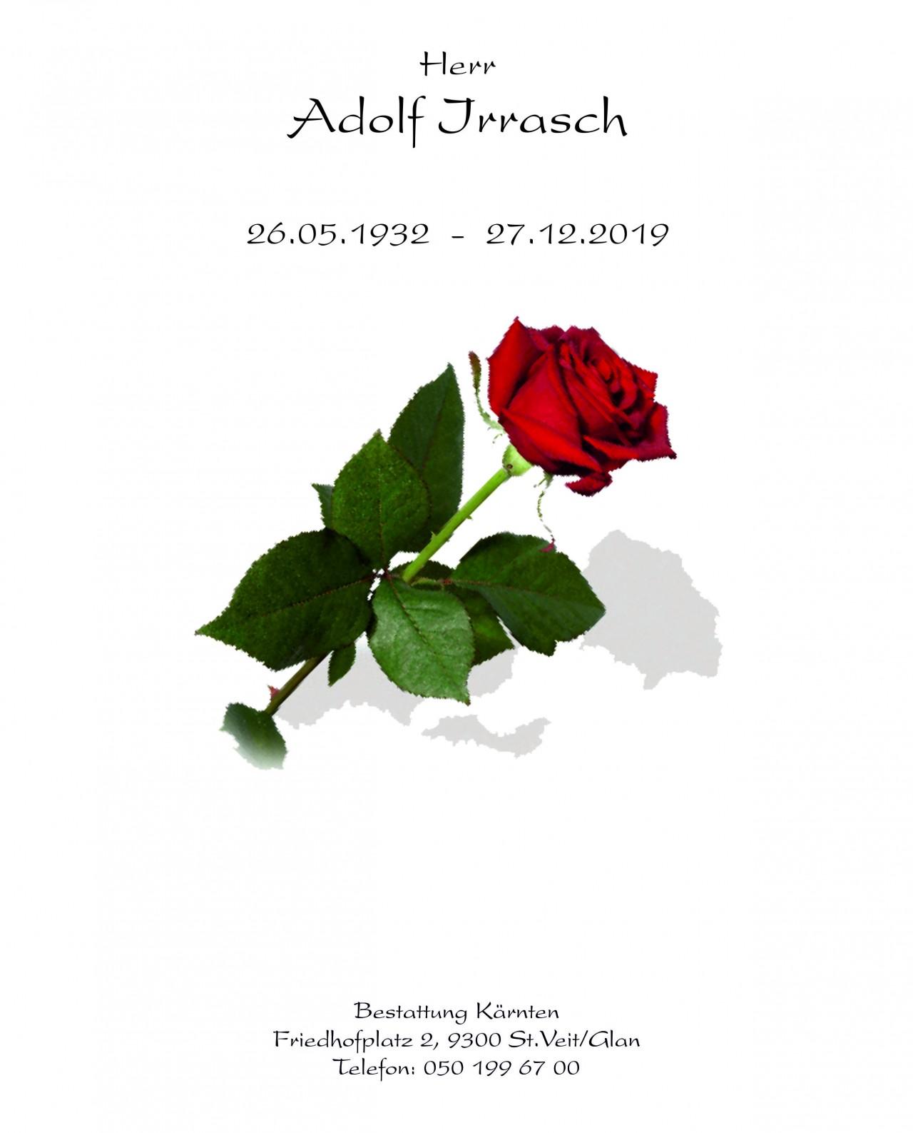 Parte für Adolf Irrasch pax · requiem