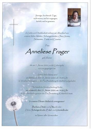 Anneliese Prager geb. Rainer