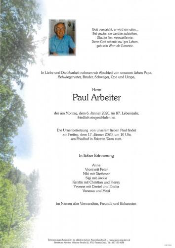 Paul Arbeiter