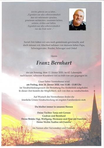 Franz Bernhart