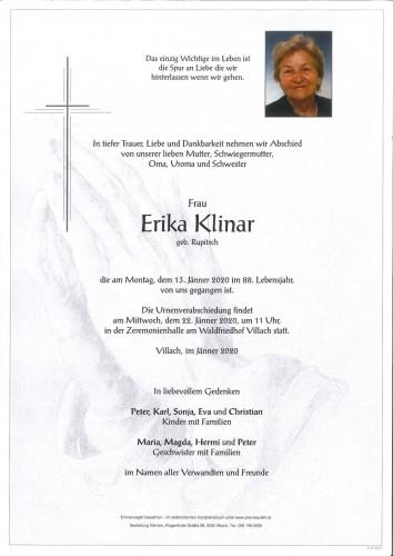 Erika Klinar geb. Rupitsch