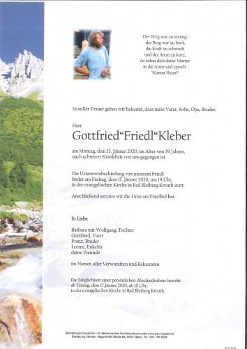 "Gottfried""Friedl""Kleber"