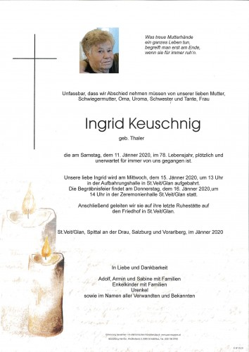 Ingrid Keuschnig  geb. Thaler
