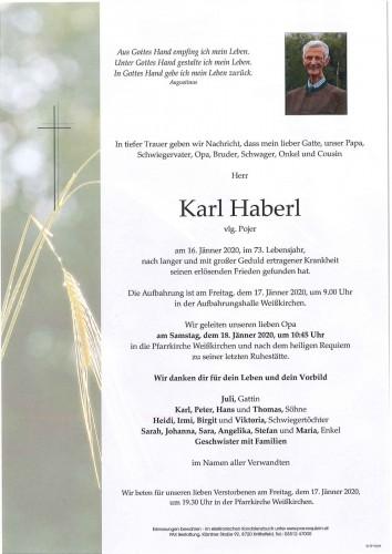 Karl Haberl vlg. Pojer