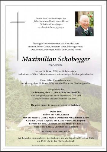 Maximilian Schoberegger vlg. Goppold