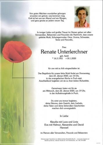 Renate Unterlerchner, geb Seidl