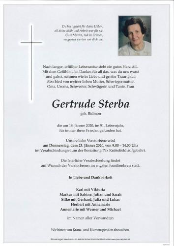 Gertrude Sterba