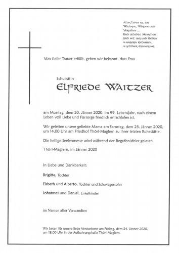 Elfriede Waitzer, Schulrätin