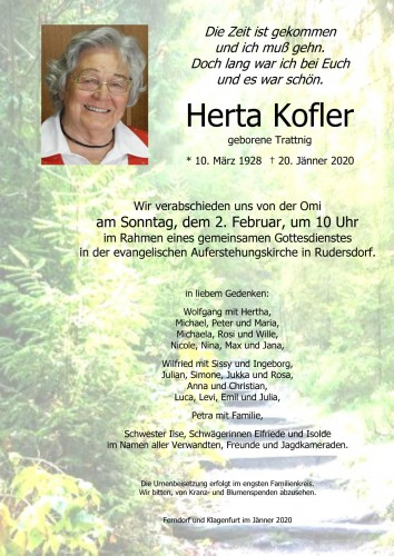 Herta Kofler, geb. Trattnig